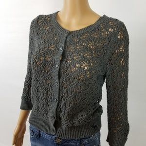 Abercrombie & Fitch Knit Button Down Cardigan L
